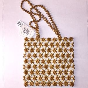 Urban Outfitters wooden beaded tote